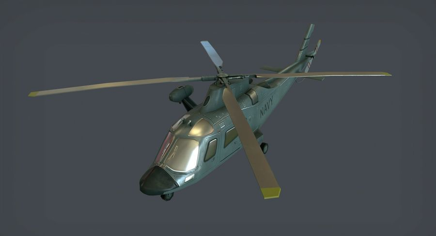 Agusta AW-109 royalty-free 3d model - Preview no. 1