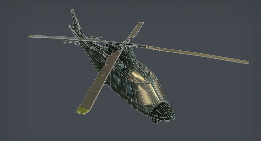 Agusta AW-109 royalty-free 3d model - Preview no. 8