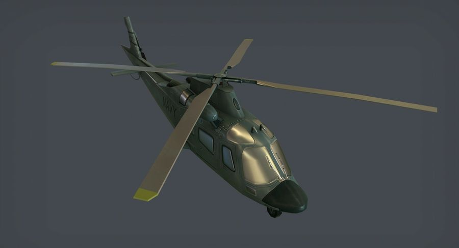 Agusta AW-109 royalty-free 3d model - Preview no. 4