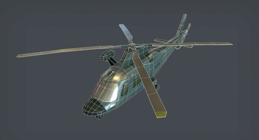 Agusta AW-109 royalty-free 3d model - Preview no. 5