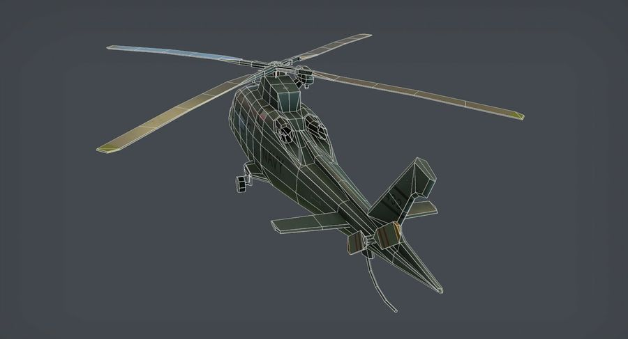 Agusta AW-109 royalty-free 3d model - Preview no. 7