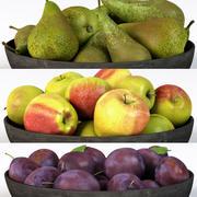 Prugna di mela e pera 3d model