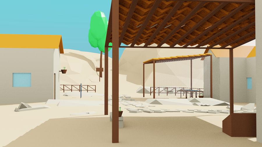 Pequeña ciudad royalty-free modelo 3d - Preview no. 5