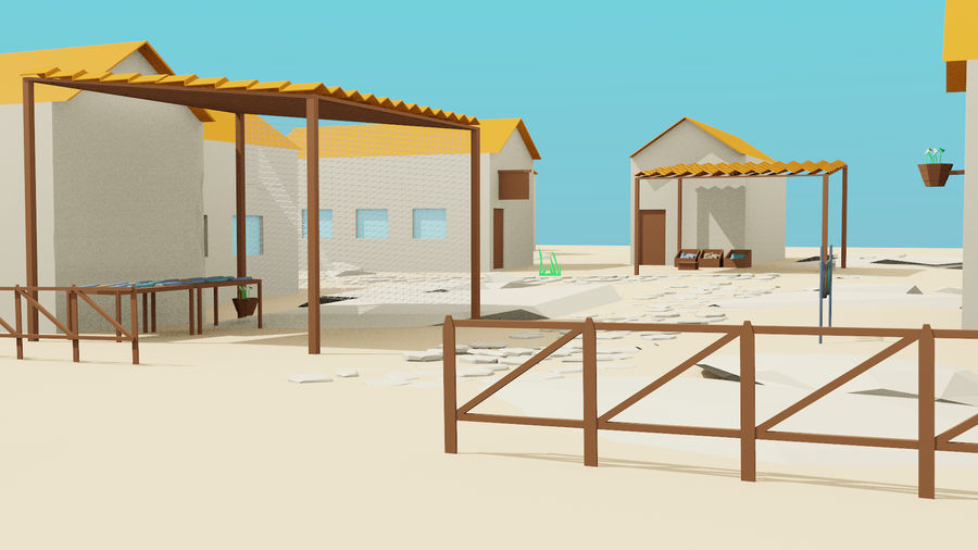 Pequeña ciudad royalty-free modelo 3d - Preview no. 1