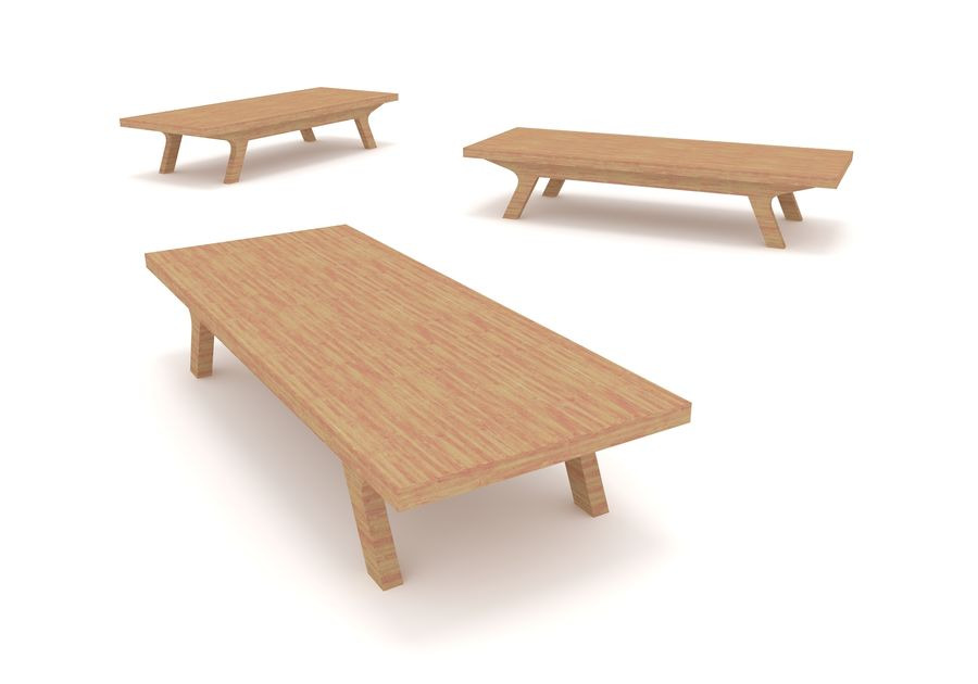Muebles de madera simples royalty-free modelo 3d - Preview no. 4