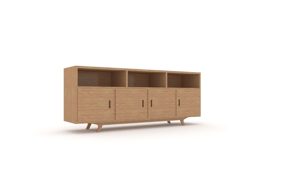 Muebles de madera simples royalty-free modelo 3d - Preview no. 3