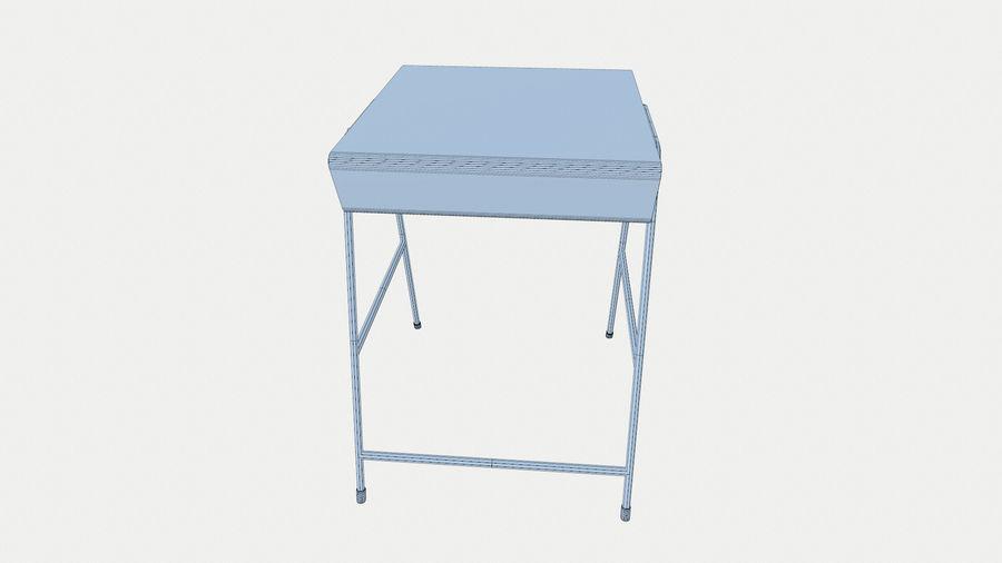 Banco di scuola royalty-free 3d model - Preview no. 7
