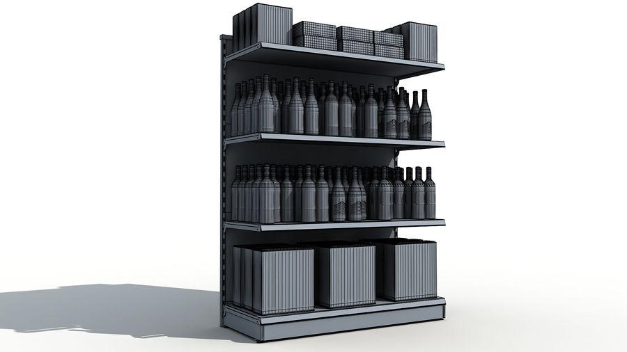 Scaffali del supermercato vino royalty-free 3d model - Preview no. 8