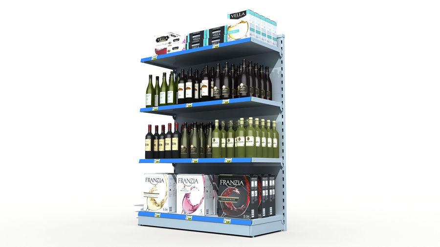 Scaffali del supermercato vino royalty-free 3d model - Preview no. 3