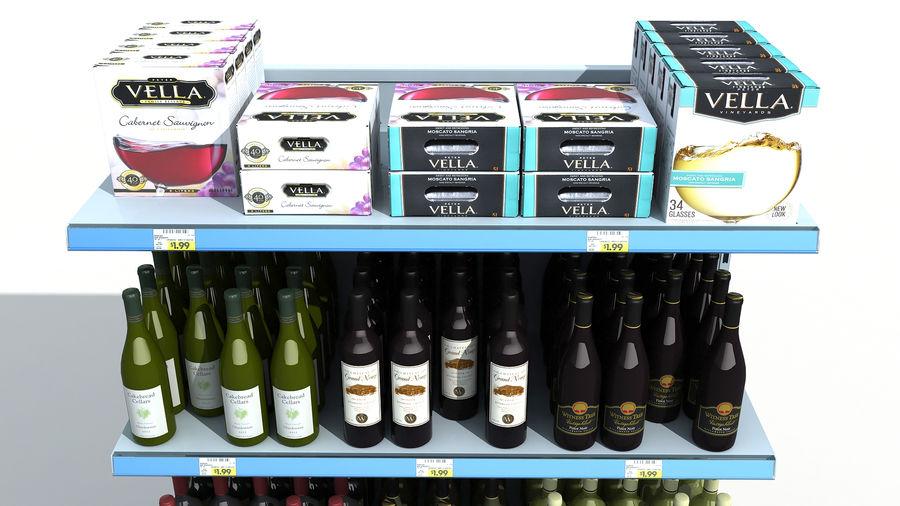 Scaffali del supermercato vino royalty-free 3d model - Preview no. 6