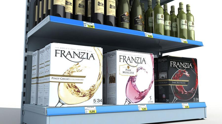 Scaffali del supermercato vino royalty-free 3d model - Preview no. 4