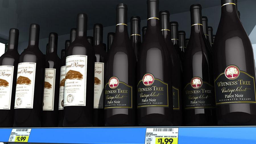 Scaffali del supermercato vino royalty-free 3d model - Preview no. 7
