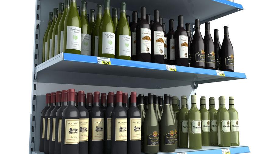 Scaffali del supermercato vino royalty-free 3d model - Preview no. 2