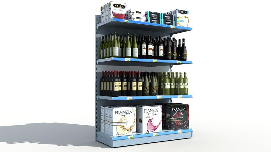 Scaffali del supermercato vino royalty-free 3d model - Preview no. 1
