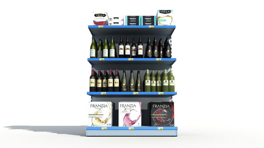 Scaffali del supermercato vino royalty-free 3d model - Preview no. 5