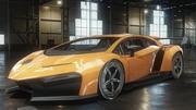 汽车Veneno Concept汽车低聚 3d model