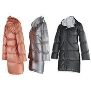 Abrigo de invierno para mujer modelo 3d