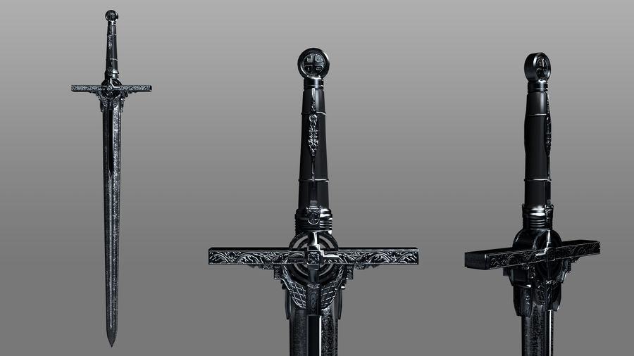 Ancient Sword royalty-free 3d model - Preview no. 5