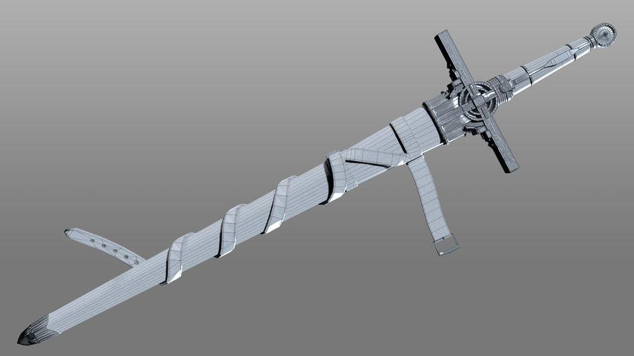 Ancient Sword royalty-free 3d model - Preview no. 11