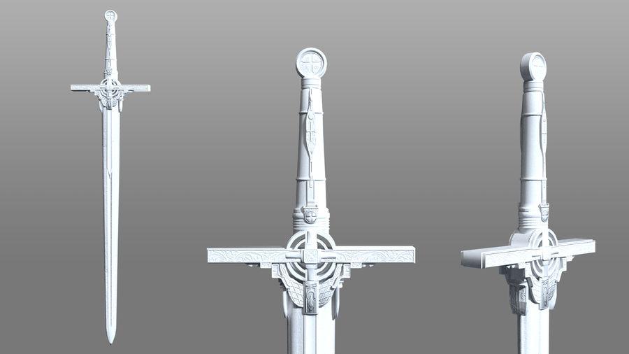 Ancient Sword royalty-free 3d model - Preview no. 3