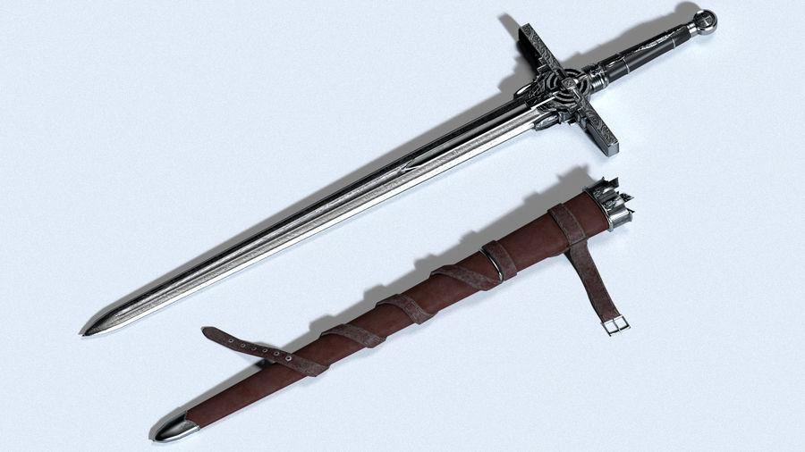 Ancient Sword royalty-free 3d model - Preview no. 4