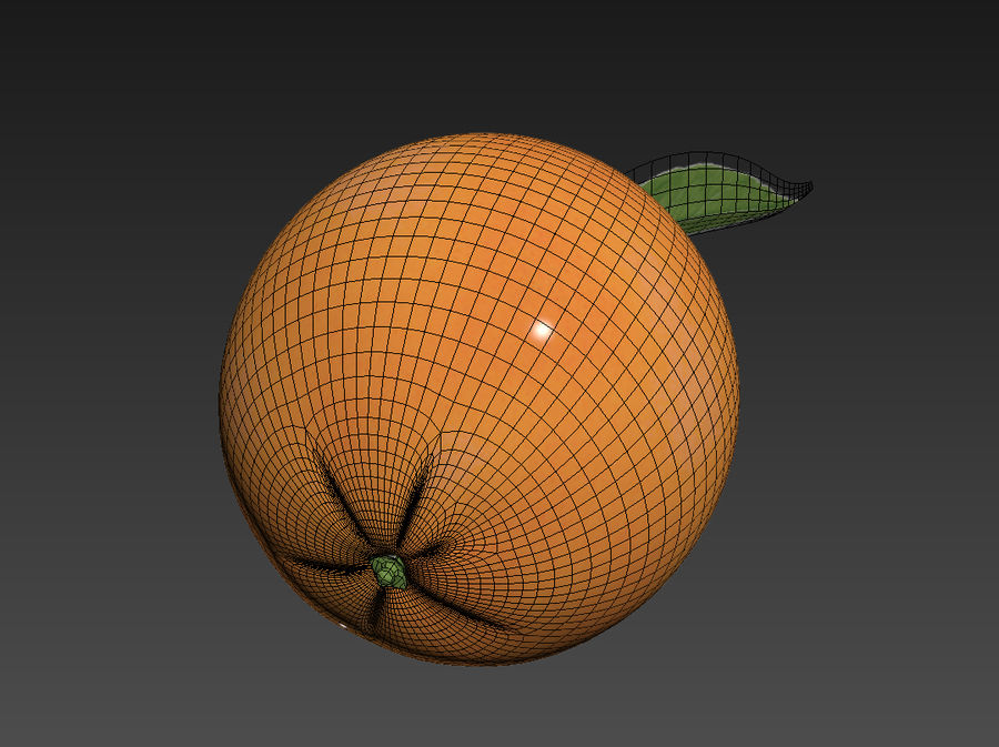 Grapefruit royalty-free 3d model - Preview no. 6
