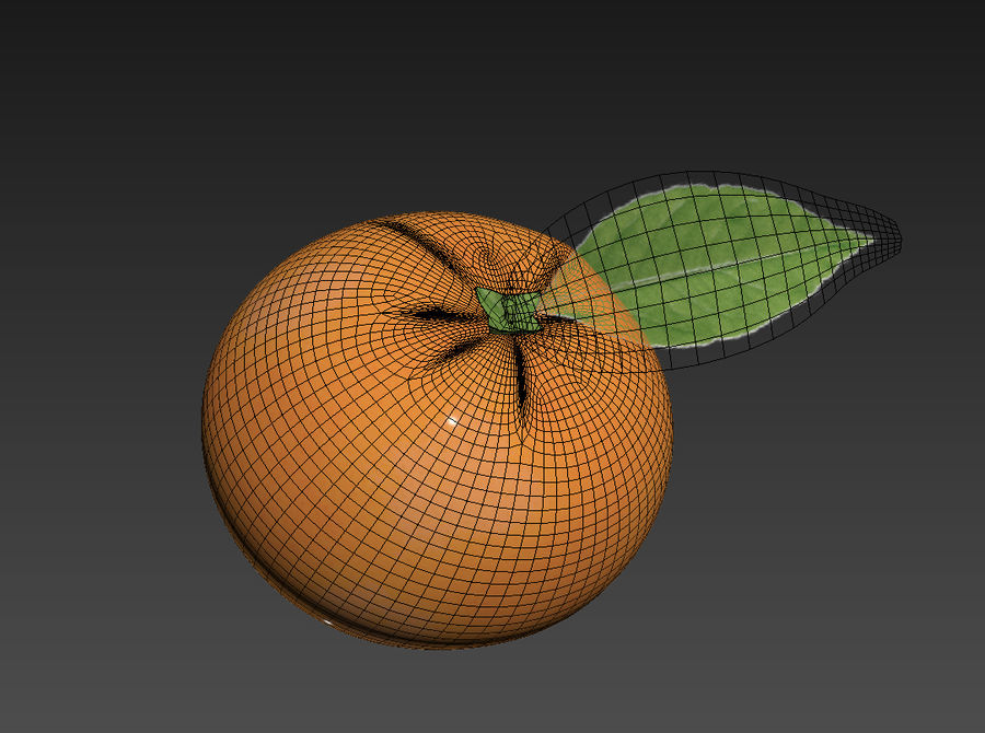 Grapefruit royalty-free 3d model - Preview no. 5