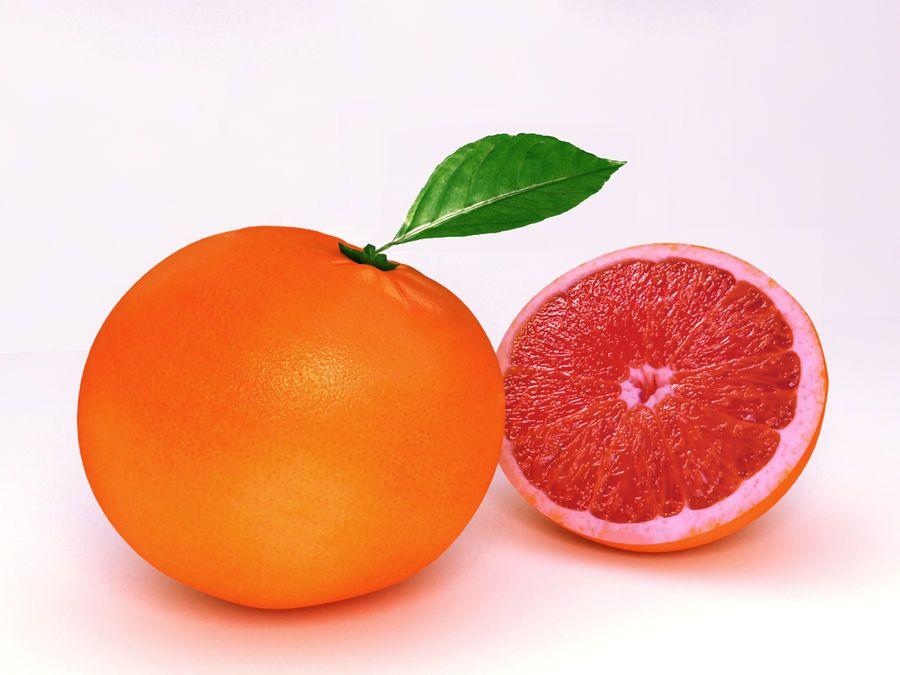 Grapefruit royalty-free 3d model - Preview no. 1