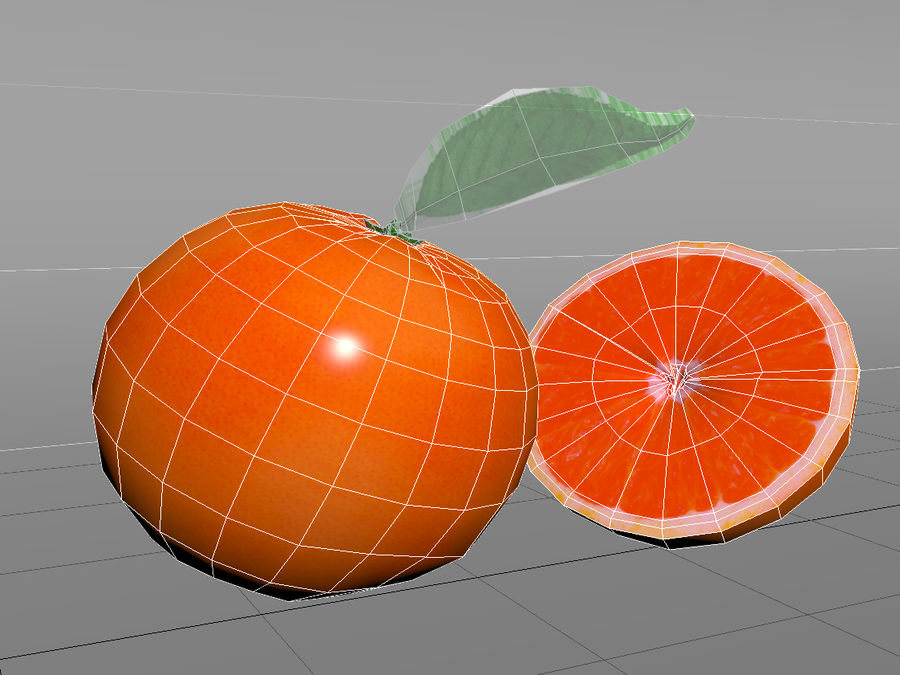 Grapefruit royalty-free 3d model - Preview no. 4