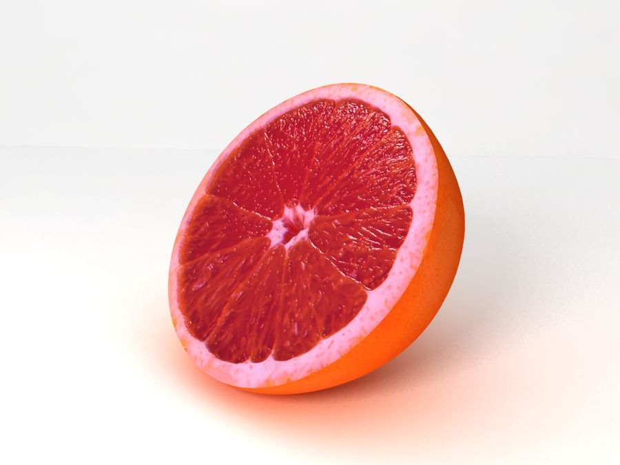 Grapefruit royalty-free 3d model - Preview no. 3