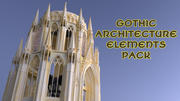 Gothic Architecture Elements Pack 3d model