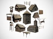 Tidig medeltida byggnadsförpackning 3d model