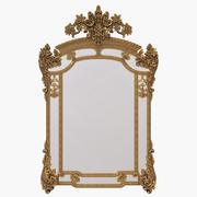 Gold rococo mirror 3d model