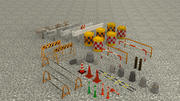 Risorse stradali a basso poli 3d model