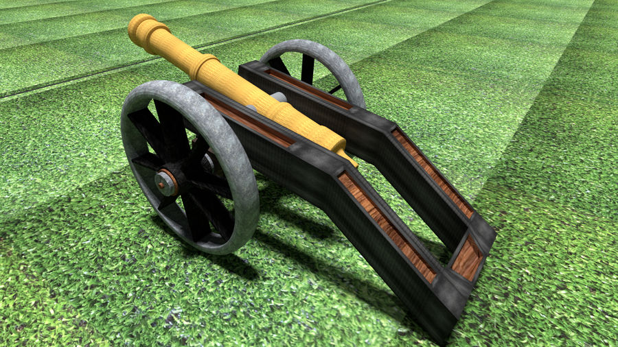 Artillery Cannon royalty-free 3d model - Preview no. 4