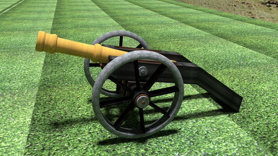 Artillery Cannon royalty-free 3d model - Preview no. 2