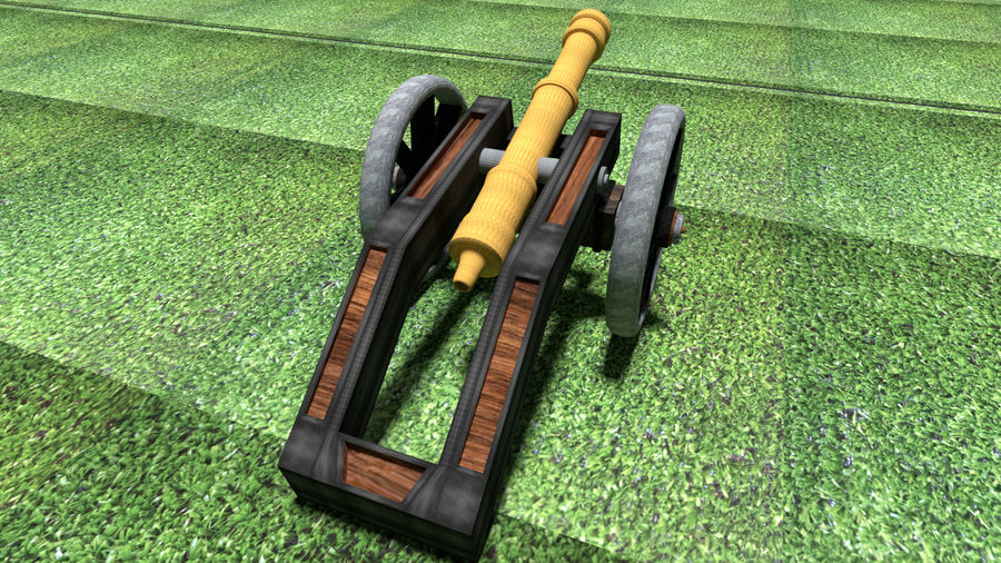 Artillery Cannon royalty-free 3d model - Preview no. 3
