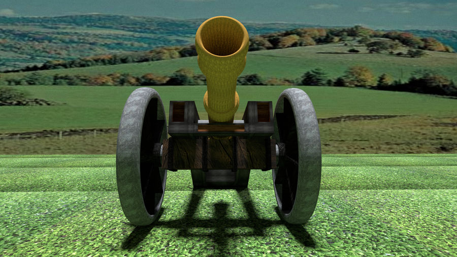 Artillery Cannon royalty-free 3d model - Preview no. 5