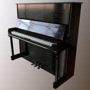 Zwarte piano 3d model