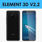 E3D - Huawei Mate 20 Pro Noir 3d model