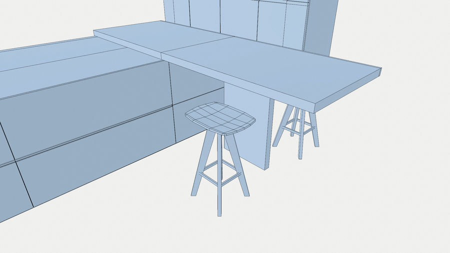 Modernt kök royalty-free 3d model - Preview no. 11