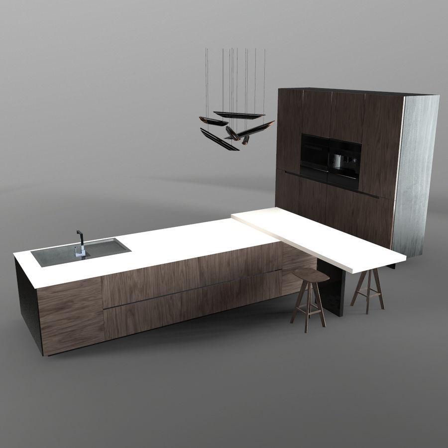 Modernt kök royalty-free 3d model - Preview no. 1