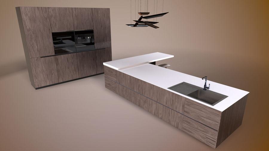 Modernt kök royalty-free 3d model - Preview no. 3