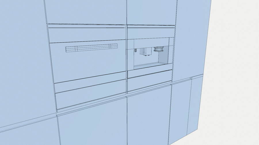 Modernt kök royalty-free 3d model - Preview no. 8