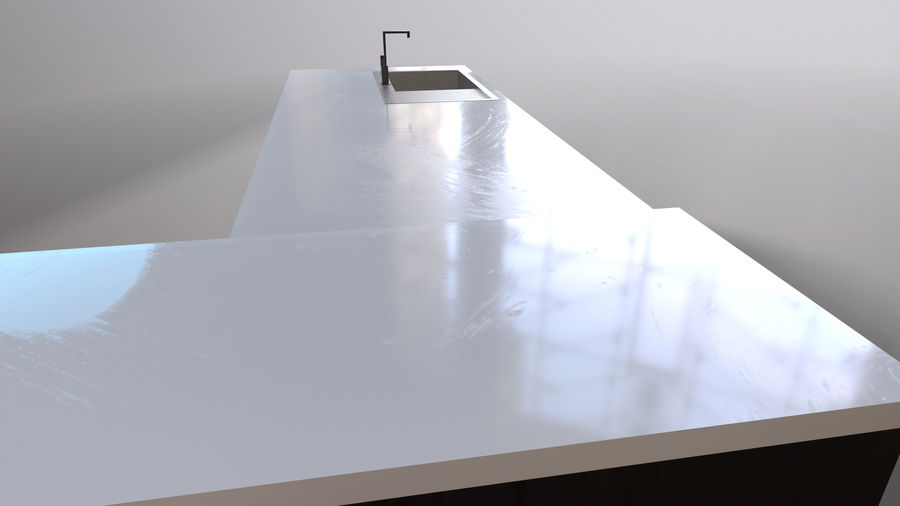 Modernt kök royalty-free 3d model - Preview no. 7