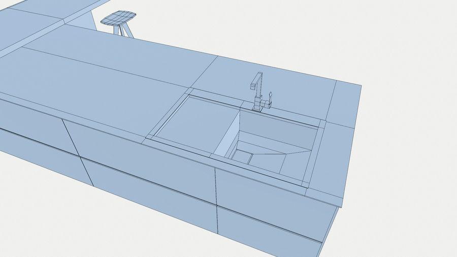 Modernt kök royalty-free 3d model - Preview no. 10
