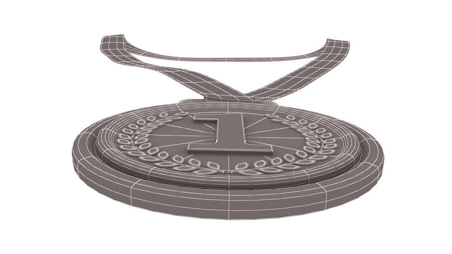 Gold Medal royalty-free 3d model - Preview no. 10