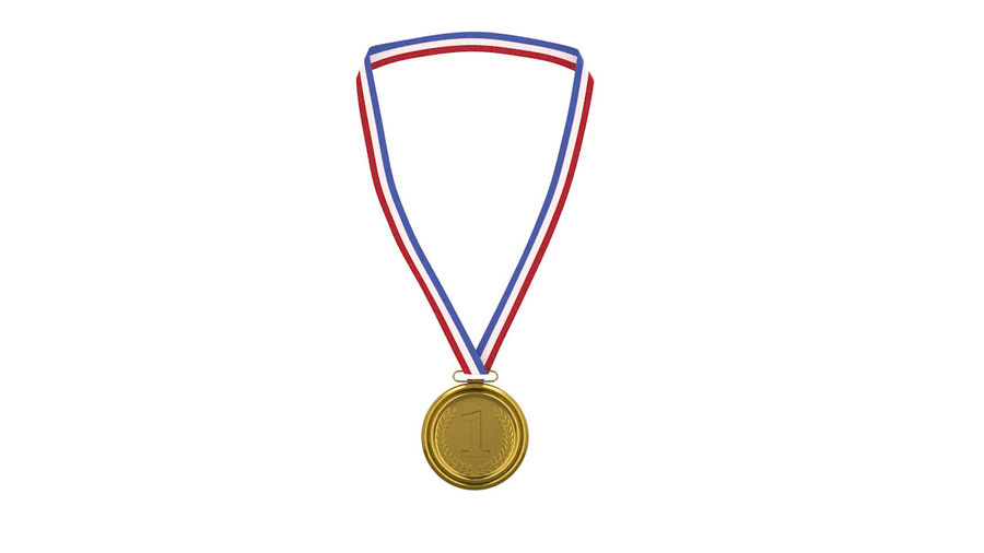 Gold Medal royalty-free 3d model - Preview no. 3