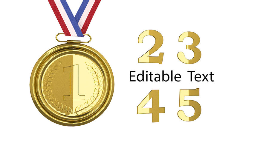 Gold Medal royalty-free 3d model - Preview no. 6