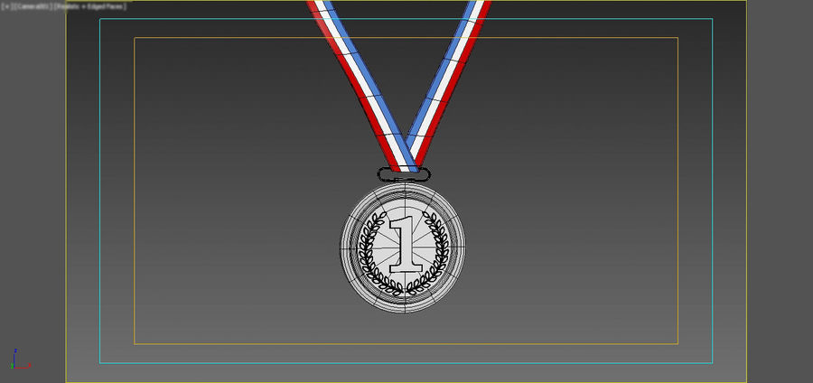 Gold Medal royalty-free 3d model - Preview no. 11